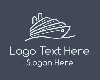 Frigate - Cruise Ship Ferry logo design