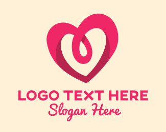 Loop - Modern Pink Love logo design