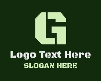 War - Military Green Letter G logo design