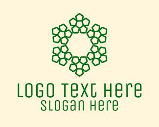 Pentagon - Pentagon Flower logo design