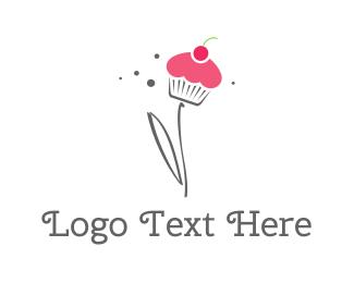 Cupcake - Cupcake Flower logo design