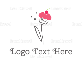 Bakeshop - Cupcake Flower logo design