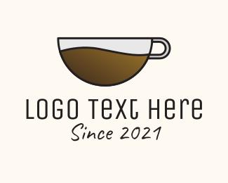 Think - Hot Coffee Shop logo design