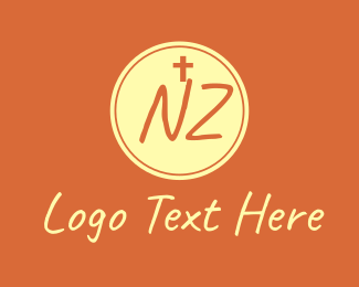 Christ - Catholic Church N & Z logo design