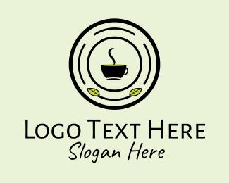 Herbal Cafe Emblem logo design