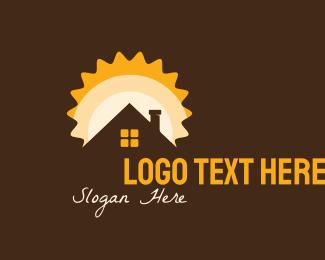 Land Investment - Sunrise House logo design