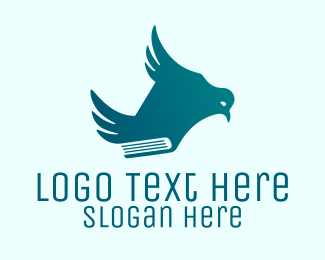 Read - Book Bird logo design