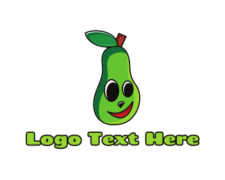Guacamole - Smiling Green Avocado logo design