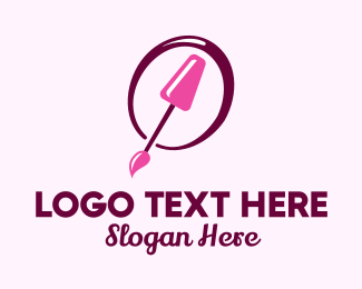 Nail Tech - Pink Nail Polish logo design
