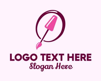 Nail Salon - Pink Nail Polish logo design