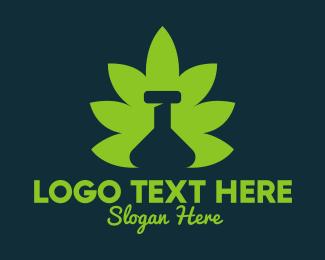 Medical Marijuana - Marijuana Leaf Bottle logo design