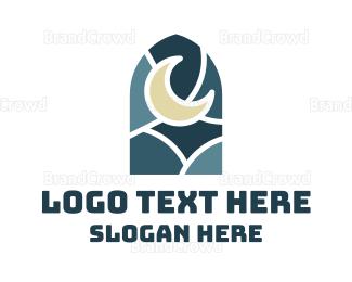 Dream - Night Window logo design