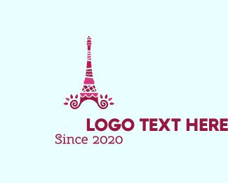 Paris - Cake Tower logo design