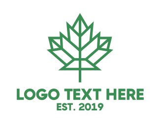 Ontario - Polygon Canada Leaf logo design