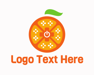 Console Game - Orange Game Controller logo design