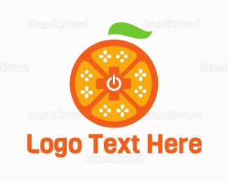 Remote - Orange Game Controller logo design