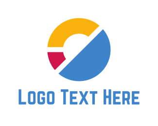 Number 0 - Abstract Circle logo design