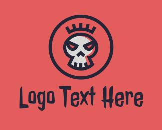 Tattoo - Crown Skull logo design