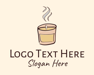Home Decoration - Scented Candle logo design