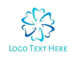Dental - Dental Flower logo design