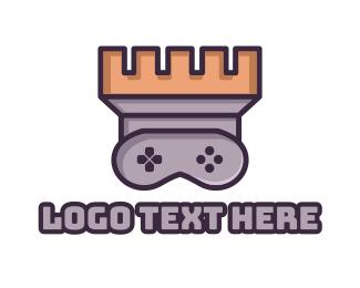 Fort - Castle Tower Gaming logo design