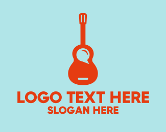 Busking - Guitar Music App logo design
