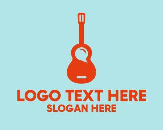 Guitar - Guitar Music App logo design