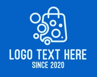 Bubbles - Bubbly Shopping Bag logo design