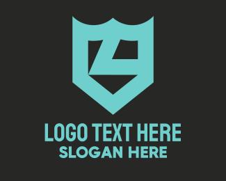 Bravery - Letter L Shield Crest logo design
