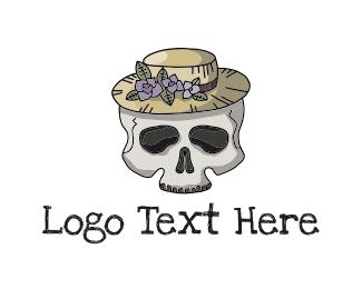 Fedora - Skull Hat logo design