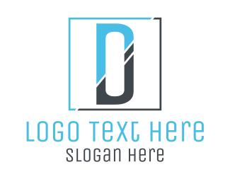 Mirror - Minimalist D Square logo design
