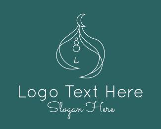 Simple - Fancy Girl Muslim Turban logo design