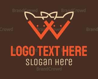 Orange And Gray - Orange Foxes logo design