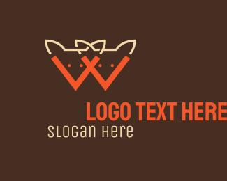 Twin - Orange Foxes logo design