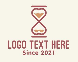 Matchmaking - Love Hourglass logo design