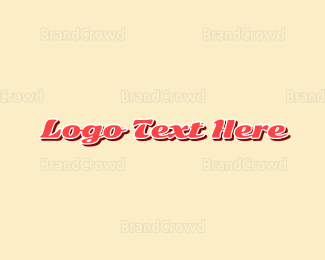 Shadow - Classic Pink Script Wordmark logo design