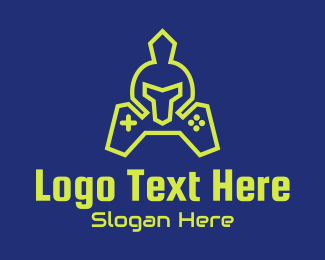 Fortnite - Green Gaming Gladiator logo design