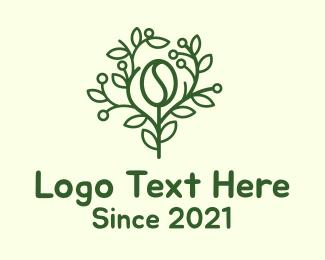 Arabica - Coffee Bean Tree Branch logo design