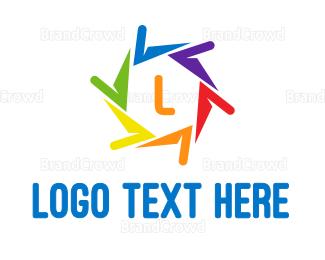 Diversity - Colorful Propeller logo design