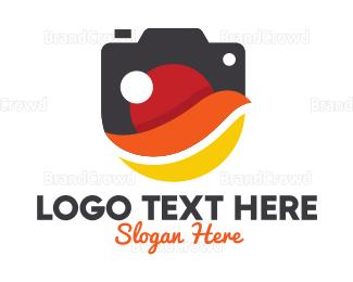 Advertising - Stylish Swoosh Camera logo design