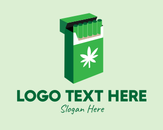 Marijuana Dispensary - Weed Joint Pack logo design