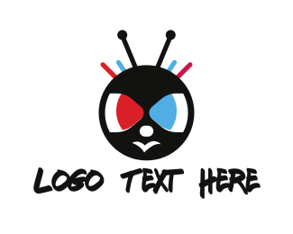 Bee - Insect Cartoon logo design