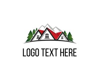 Cabin - Mountain House logo design