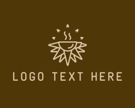 Sunrise - Brown Sunrise Cafe logo design
