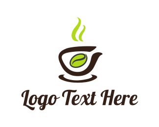 Brew - Green Coffee Bean  logo design