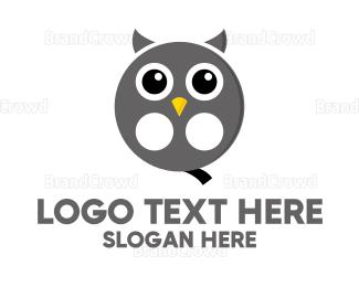 Producer - Owl Film Reel logo design