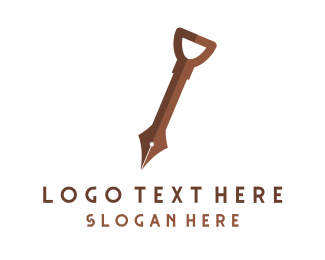 Shovel - Knowledge Digger logo design