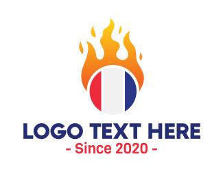 Fireball - France Fireball logo design