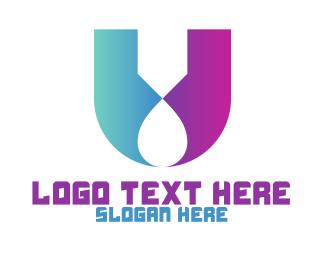 Monogram - Futuristic U Monogram logo design