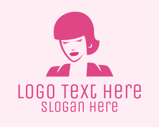 Facial - Pink Fashionista Woman logo design